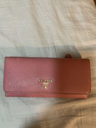 Authentic Pink Prada Long Wallet