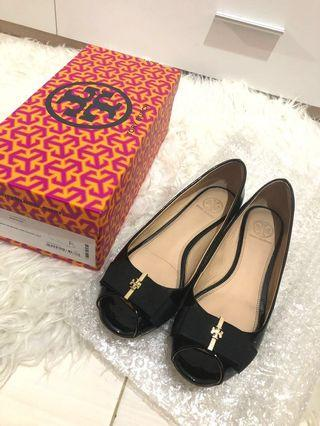Tory Burch Trudy Open Toe Wedges 100% authentic