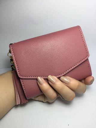Pink wallet / short wallet / korean wallet /
