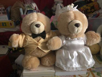 Forever friends wedding couple hallmark 熊結婚公仔一對