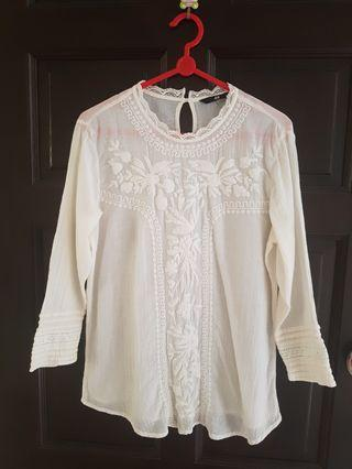 H&M Long Sleeve Lace Blouse