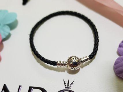 BN Pandora Leather Woven Bracelet (17.5cm)