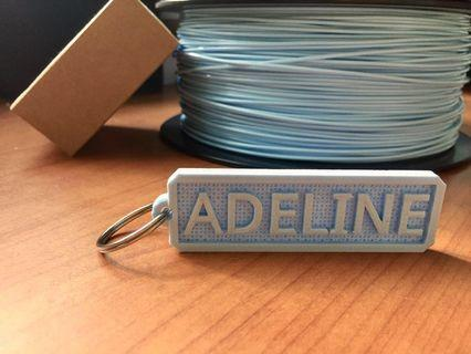 Custom 3D Printed Keychains (gift packaging options included)