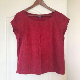 Made in Denmark 丹麥Marrimeko同店買入master of linen klok red top