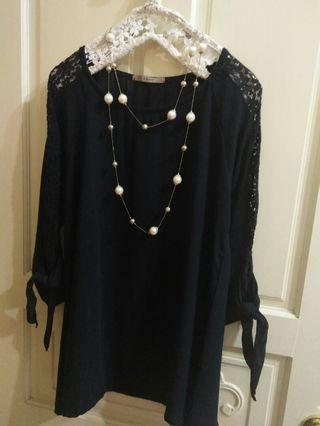 Libra近新柔紡蕾絲袖