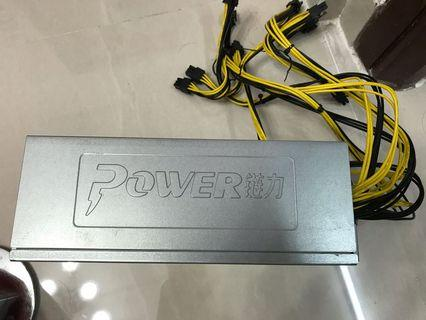 Power supply unit for bitcoin mining