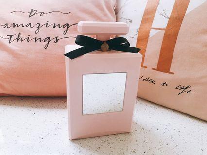 Franc franc 粉紅香水瓶連鏡飾物盒