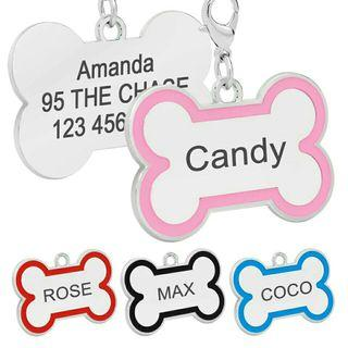 [Pre-Order] Personalized Dog ID Tag Bone Shape Customized Engraved Tag