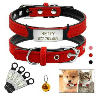 [Pre-Order] Soft Cat Dog Collar and Tag Set
