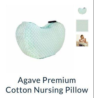 [Preloved used few days] Bebe au lait nursing pillow in agave green premium cotton with free courier delivery