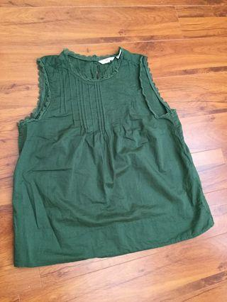 Levis green sleeveless top sz s