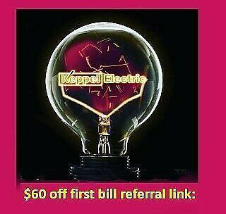 $60 off first bill with Keppel Electric