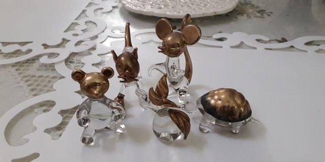 Brass-Crystal Figurines