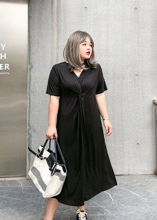 Plus Size 2ways Wearing Tee Dress
