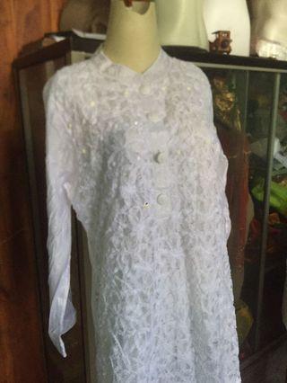 White dress gamis NEW