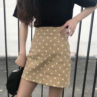 🔥(3 Colour) Retro Polka Dots High Waist Ulzzang Skirt