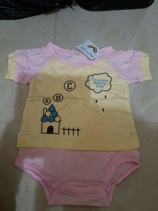 初生bb衫粉黃色 全新 斷碼 70, 80碼 一件$15 兩件$24 低於入貨價