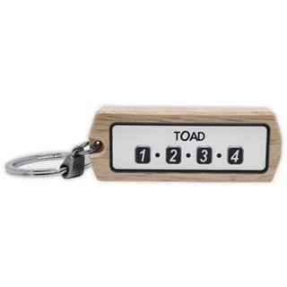 權世界@汽車用品 韓國TOAD 電話號碼牌/車尾號碼牌 木頭鑰匙圈 1172