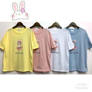 新品上市兔子短袖t