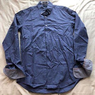 New Paul & Shark PS Mens Blue Long Sleeves Shirt
