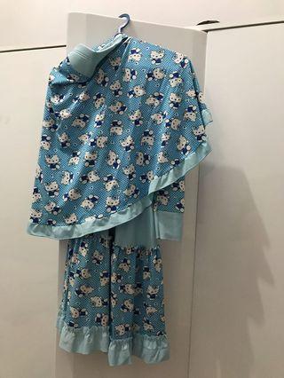 Sale baju muslim anak  1 set baju+kerudung jual murah aja msh bgus bgt ya
