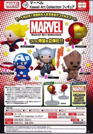 Marvel Avengers 扭蛋 - 美國隊長 Captain America / 雷神 Thor / 樹人 Groot