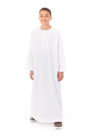 Tunik panjang anak laki baju muslim putih