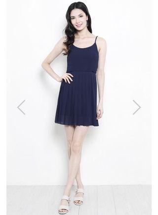 🌟SSD Zeyda Pleat Dress in Navy