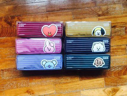 <INSTOCK> BT21 Monopoly C-Pocket Striped Pencil Case