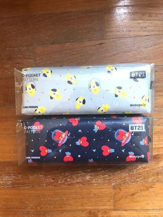 <INSTOCK> BT21 Monopoly C-Pocket Pattern Zip Pencil Case