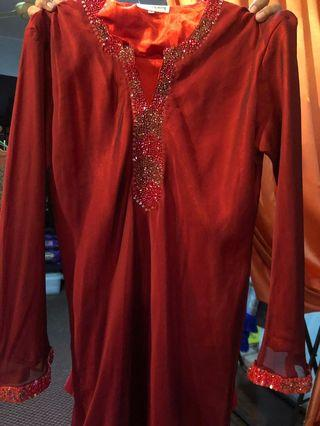 First Lady baju kurung size L