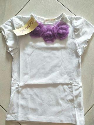 Purple flower Tutu Top Sz 120