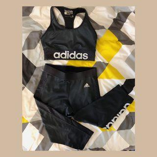 Adidas techfit sports bra and tights