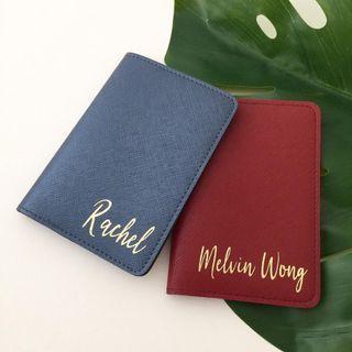 Modern calligraphy Personalised passport holder custom passport cover personalised gift travel couple gift set farewell gift birthday gift