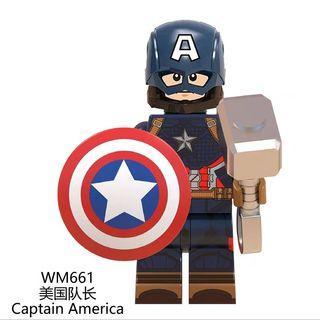 Lego Compatible Captain America Mjolnir