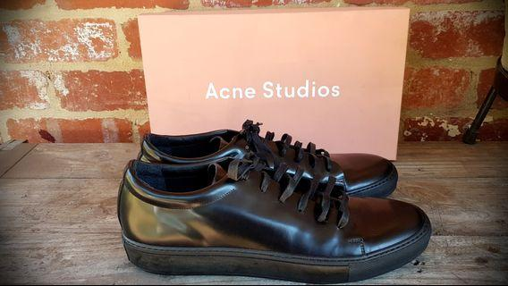 BNIB Acne Studios Black Leather Adrian Sneakers 12 PAYED $500