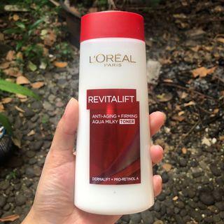 Loreal Revitalift Anti Aging Firming Aqua Milky Toner - Kondisi 70%
