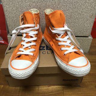 Converse 復古橘色帆布鞋