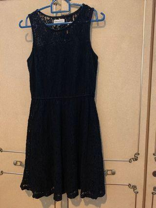 Padini Authentic Black lace skater dress