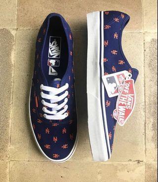 Preloved- Rare Vans x Major League Baseball Authentic NY Mets Skate Shoes