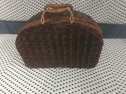 Rattan design like Luggage Bag