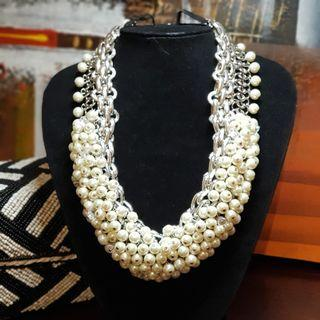 🚚 Statement Pearl Chain Necklace