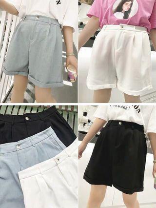 Plus Size Highwaist Tailor Shorts