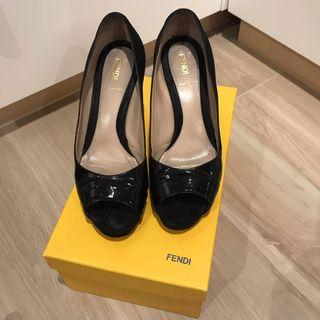 Fendi Black High Heel Shoes
