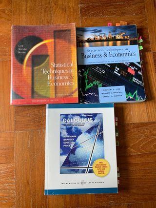 Statistics and Calculus Textbooks