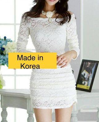Made in Korea - White Lace style Dress