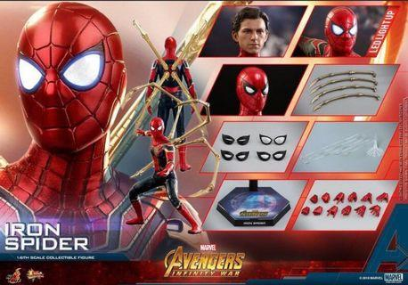 全新未開封 Hottoys Avengers Infinity War Iron Spider MMS 482