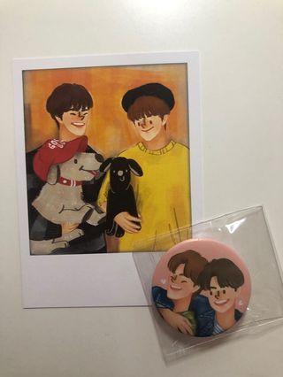 WTS Nct127 Jaeyong fanart postcard and badge