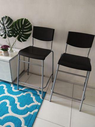 Ikea Stig bar stool with backrest