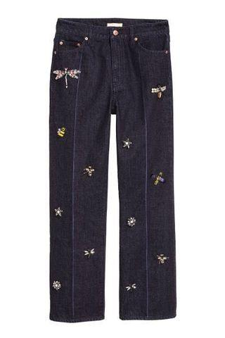 [NEW] H&M Jeans with beaded